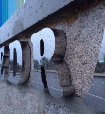 Letras Corpóreas en Acero para Diputación de Pontevedra
